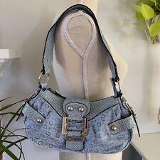 VINTAGE GUESS BAGUETTE Purse Handbag With Wallet Faux Reptile RETRO 90s 00s Y2K