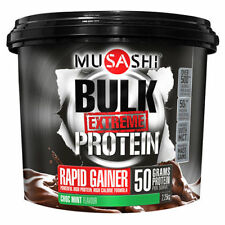 MUSASHI BULK EXTREME CHOC MINT PROTEIN CHOCOLATE POWDER MASS GAINER GYM 2.25kgs