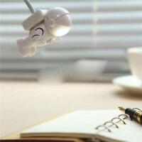 Flexible astronauta LED USB noche luz mini lámpara para portátil lectura~GNQA
