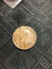 Error On 1951 Australian One Penny Melbourne Mint Metal Flaw coin $$$