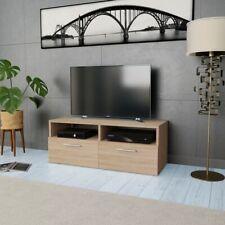 vidaXL TV Cabinet Chipboard 95x35x36cm Oak Home Storage Unit Centre Stand