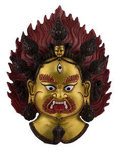 -statue Tibetische Mahakala Dieu Buddhistisches Schutz 33 CM Tibet-Buddha 1547