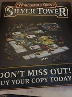 Games Workshop Warhammer Quest Silver Tower Store Poster