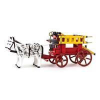 Feuerwehr Gespann mit Leiterwagen NEU Erzgebirge Volkskunst Miniatur Pferd Wache