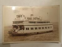Vintage Ferry Astoria Oregon Smith RPPC Postcard