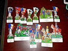 1378 - serie lotto 13 soldatini latta litografata '' waterloo '' brivio figurini