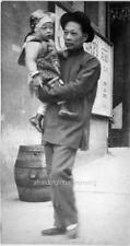"Old Photo San Francisco Chinatown ""Man Holding Child"""
