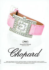 Publicité Advertising 018  2004  montre Chopard femme Festival Cannes