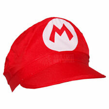SUPER M BROTHERS BROS HATS CAPS MARIO COSTUME HALLOWEEN VIDEO GAME FUNNY