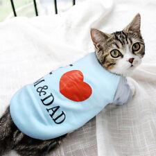I Love MOM & DAD Print Pet Cat Coat Puppy Jumper Kitten Sweater Cat Clothing