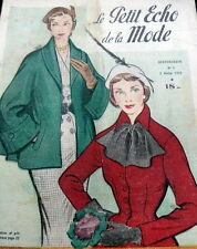 VTG 1950s PARIS FASHION & SEWING PATTERN MAGAZINE LE PETIT ECHO de la MODE 1952