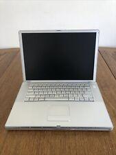 "Apple PowerBook G4 Laptop15"" Model A1046 512MB X 2 RAM No HDD No OS"