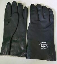 """Neoprene Work Gloves Large, Black PVC  industrial commercial 12"""" Boss Actifresh"""