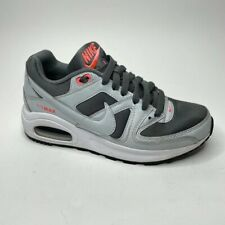 Nike Boys Air Max Command Flex Running Shoes Gray 844349-001 Lace Up Low Top 4 Y