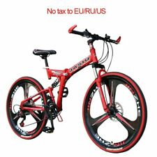 26 inch mountain bike 21 speed Folding mountain bicycle double disc brake bike N
