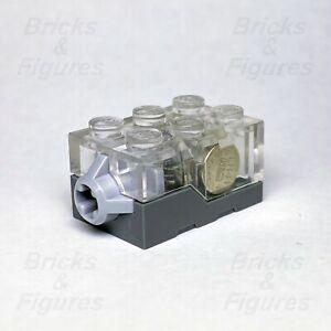 LEGO® Clear Top Orange LED Glow Electric Light Brick 2 x 3 x 1 1/3 Genuine Part