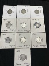Barber Dime Lot of 10 Silver
