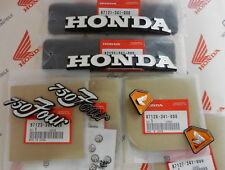 Honda CB 750 Four K2 K3 K4 K5 Emblem Set Gas Tank and Side Covers Emblem + Clips