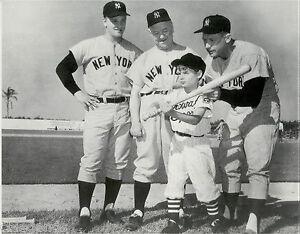 "New York Yankees MANTLE & MARIS Movie ""SAFE AT HOME"" B & W Large Reprint 11""x14"""