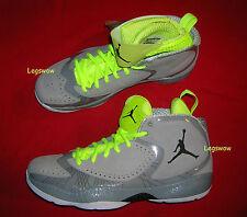 Nike Air Jorden Basketball Sneaker Shoe Grey Men 11 Deluxe Black Silver Lime New