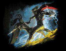 Marvel/DC: THOR VS LOKI movie T-Shirt (M)