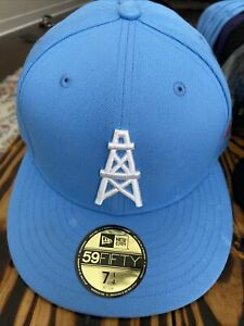 NFL New Era Houston Oilers Tennessee Titans Baby Blue 59Fifty 7 1/4 Fitted Hat