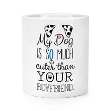 My Dog Is Cuter Than Your Boyfriend Dalmation Makeup Brush Pencil Pot