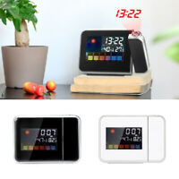 Temperature Humidity Weather Forecast Station Digital Projection Alarm Clock E
