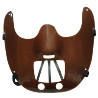 Brown Mouth Restraint Half Mask Horror Halloween Costume Accessory