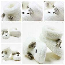 New Newborn Socks Unisex Boy Girls Infant Cute Bear Crib Warm Shoes 0 -12 month