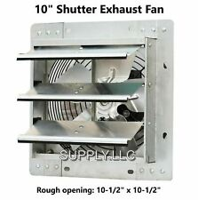 Commercial Wall Mount Shutter Exhaust Fan 10 Variable Speed Garage Shed Barn