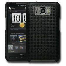 Perforated Retro Sports Hard Shell Case Cover for T-Mobile HTC HD2 - Black