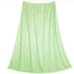 Ladies Half Slip Waist Underskirt Anti Static Basic Petticoat Cling Resistant