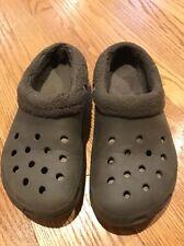 CROCS Alligator Camo GREEN LINED Clogs Casual Walking Shoes Mens Sz 7 Womens 9 #