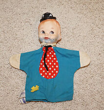 Tommy Tramp Hand Puppet Vintage 1950/60's? Blue Cloth Rubber Head - JB