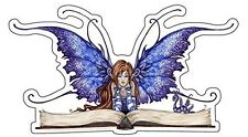 Amy Brown Sticker Decal Fairy Faery Book Worm Bookworm Library Reading Reader