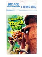 8 Brand New Ice Age Thank You Cards and Envelopes Hallmark Party Thanks Notes