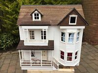 Houseworks 'The Victorian' Dolls House With Furniture