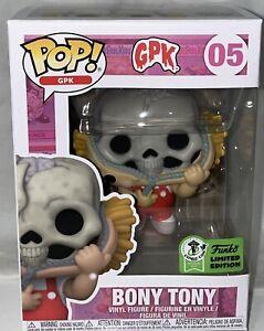 Funko Pop #05 ECCC 2021 Garbage Pail Kids GPK BONY TONY with OFFICIAL STICKER !