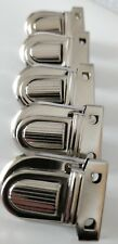 5 x Chrome Tuck Lock 26mm Size  Nickel Plated purse bag Clasps closures