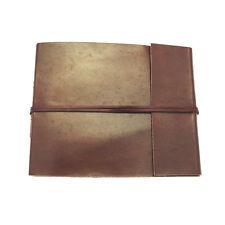 Fair Trade Handmade Small Plain Leather Photo Album Scrapbook 2nd Quality