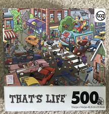 """Thats Life 500 Piece """"Traffic Jam"""" jigsaw Puzzle Sure-Lox Cars Complete"""
