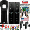 Built in Motion Plus Remote Nunchuck Controller & Case For Nintendo Wii / Wii U