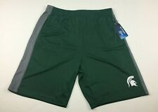 Colosseum Michigan State Spartans Green Athletic Polyester Shorts Men's Medium