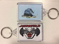 AIRWOLF Attack Helicopter & logo serie tv ~ PORTACHIAVI 50 mm x 35 mm