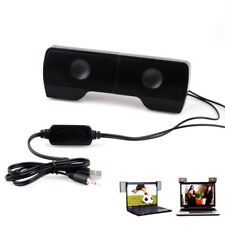 USB Mini Portable Clip-On Speakers Stereo For Laptop Notebook Computer PC MP3