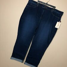 NEW NYDJ Not Your Daughter Jeans 26W Marilyn Ankle Cuff Dark Blue Stretch   B3