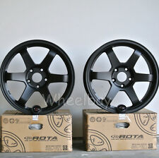 TOTAL 4 PCS ROTA WHEEL GRID 17X8 35 & 17X9 5X114.3 25 73 FLAT BLACK