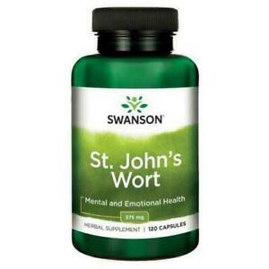 SWANSON ST JOHNS WORT 375 MG X 120 CAPSULES Herbal Stress Support