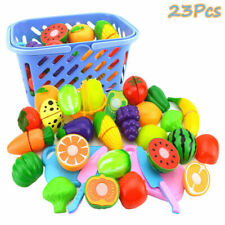 Kids Pretend Role Play Kitchen Fruit Vegetable Food Toy Cutting Set Gift For Kid